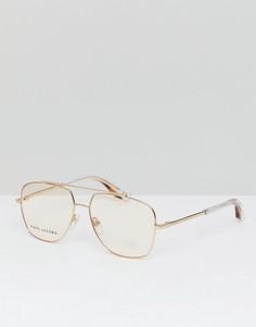 Солнцезащитные очки-авиаторы с розовыми стеклами Marc Jacobs - Золотой
