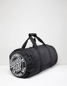 Черная сумка дафл в полоску Santa Cruz - Черный