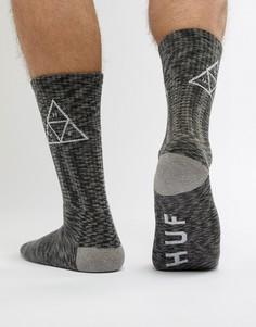 Черные меланжевые носки HUF - Черный