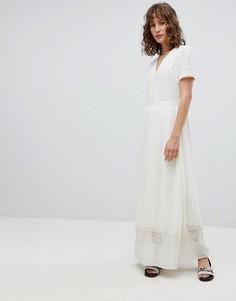 Платье макси Suncoo - Кремовый