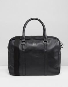 Кожаный портфель ASOS - Черный