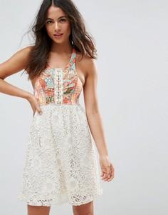 Пляжное платье с абстрактным принтом и цветочным узором Maaji - Мульти