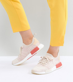 Трикотажные кроссовки кремового цвета adidas Originals NMD R1 Stealth - Белый