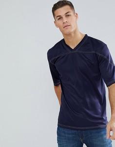 Свободная футболка Bellfield - Темно-синий