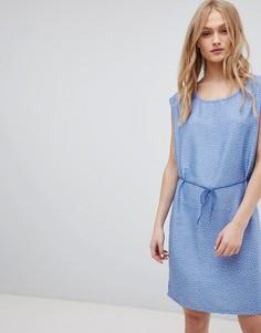 Джинсовое платье с поясом и принтом Blend She Mally - Синий