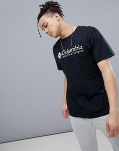 Черная футболка с логотипом Columbia - Черный