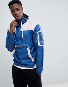 Сине-розовая легкая складываемая куртка с капюшоном Columbia Challenger - Синий