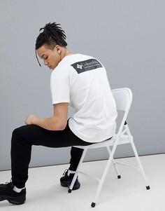 Черно-белая футболка с принтом-логотипом на спине Columbia - Белый