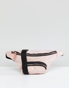 Розовая сумка-кошелек на пояс с блестками Skinnydip - Розовый