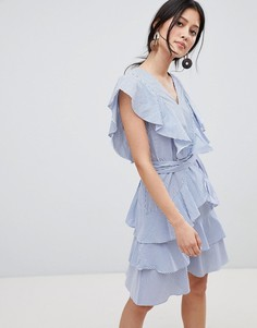 Платье с оборками Y.A.S - Синий