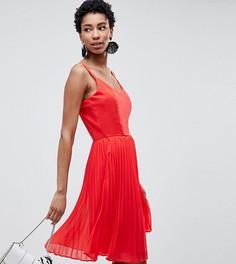 Плиссированное платье на бретельках Vero Moda Tall - Красный