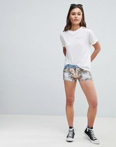 Джинсовые шорты с пайетками Parisian - Синий