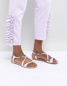 Серебристые сандалии Call It Spring - Серебряный