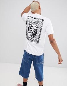 Черная футболка с принтом на спине Santa Cruz - Белый
