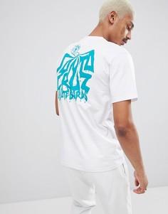 Белая футболка с принтом на спине Santa Cruz - Белый