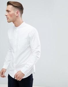 Белая оксфордская рубашка с воротником на пуговицах New Look - Белый