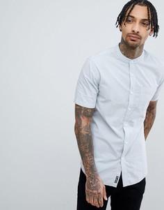 Рубашка с короткими рукавами и воротом на пуговице Tokyo Laundry - Синий