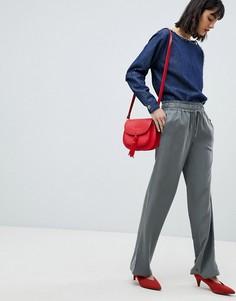 Свободные широкие брюки Esprit - Зеленый