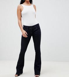 Расклешенные джинсы цвета индиго с заниженной талией ASOS DESIGN Petite - Синий