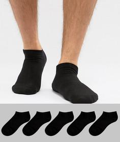Набор из 5 пар спортивных носков Jack & Jones - Черный