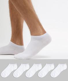 Набор из 5 пар спортивных носков Jack & Jones - Белый