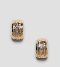 Массивные фактурные серьги-кольца Reclaimed Vintage Inspired - Золотой