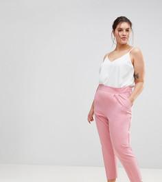 Суженные книзу брюки с завышенной талией ASOS CURVE - Розовый