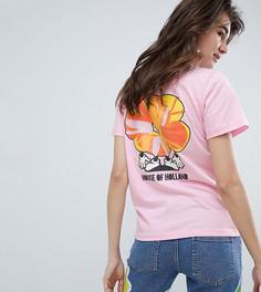 Эксклюзивная футболка с надписью House Of Holland - Розовый