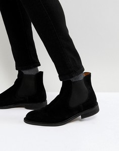 Замшевые ботинки челси Selected Homme - Черный