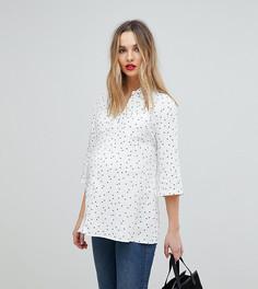 Рубашка со звездным принтом Isabella Oliver - Белый
