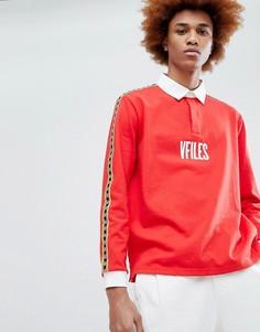 Красная рубашка с логотипом и кантом VFILES - Красный
