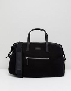 Дорожная сумка с кожаной отделкой Sandqvist - Черный