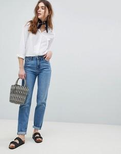 Джинсы в винтажном стиле из жесткого денима Lee - Синий