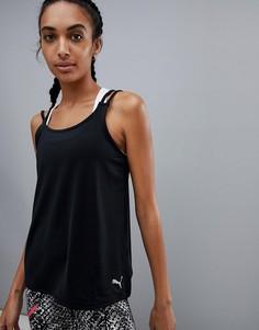 Черная спортивная майка Puma - Черный