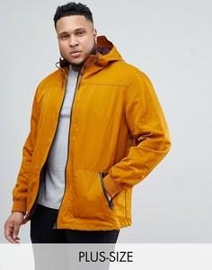 Пальто с капюшоном горчичного цвета River Island Big And Tall - Желтый