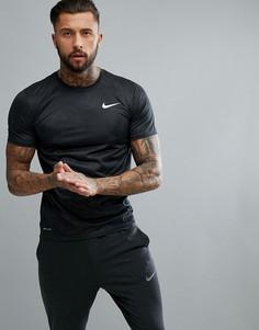 Темно-серая футболка с камуфляжным принтом Nike Training Dry 909350-060 - Черный