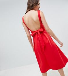 Приталенное платье миди True Violet Tall - Красный
