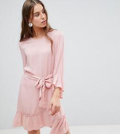 Платье с оборками и запахом Vero Moda Tall - Розовый