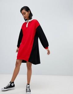 Платье-рубашка в стиле колор блок ASOS DESIGN - Мульти