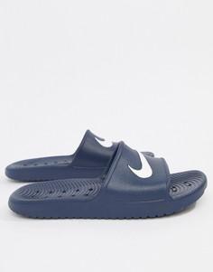 Синие шлепанцы Nike Kawa 832528-400 - Синий
