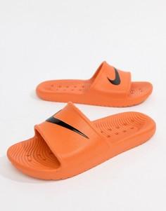 Оранжевые шлепанцы Nike Kawa 832528-800 - Розовый