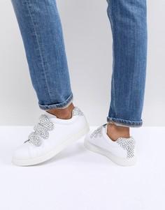 Монохромные кроссовки с тремя ремешками на липучках Suncoo - Белый