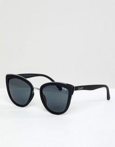Черные солнцезащитные очки кошачий глаз Quay Australia My Girl - Черный