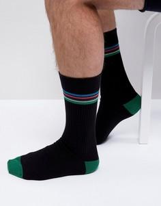 Черные носки с полосками Paul Smith - Черный