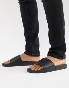 Черные шлепанцы New Look - Черный