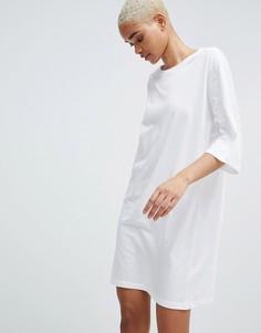 Длинная oversize-футболка Noisy May - Белый
