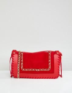Красная сумка через плечо с цепочкой Yoki Fashion - Красный