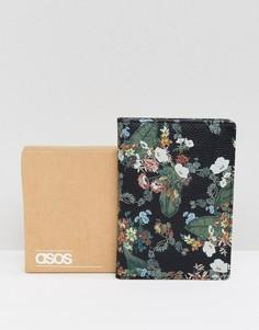 Кожаная обложка для паспорта с цветочной отделкой ASOS - Мульти