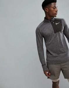 Свитшот с молнией Nike Running Therma Sphere Element 857829-202 - Коричневый