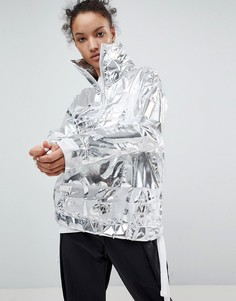 Серебристая куртка Nike - Серебряный